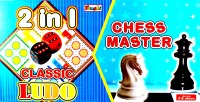 Tanshi 2 In 1 Chess Master & Classic Ludo Board Game