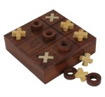 Crafts'man Board Games Crafts'man Tic Tac Toe Puzzle Wooden Board Game