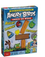 Shop & Shoppee Angry Birds Knock On Wood Touch Screen Hit Action Gear Board Game