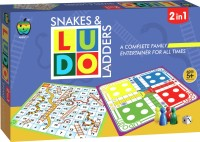 Applefun 2 In 1 Snakes & Ladders And Ludo Board Game