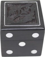 The Royal Collection Handmade Indian Dice Set With Decorative Storage Box - Includes 5 Wooden Dice Board Game