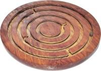 DakshCraft Wooden Games Puzzles Mind Games Labyrinth Board Game