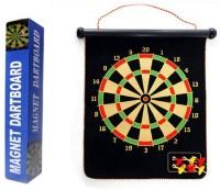 DivineXt Magnetic Magnet Reversible Dart Board Two-Sides W/ 6 Dart 15 Cm Dart Board (Multicolor)