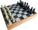 Traditional Rajasthan Handcrafted Stone Inlaid With Stone Carved Coins, Pieces 10 Inches Chess 7 Cm Chess Board - Multicolor