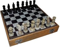 Radhey Marble Plaing Shatranj And Polish On Top On The Stone 12 Inch Chess Board (White)