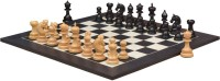 Chessbazaar Indian Chetak II Customized Staunton Set & Black Anigre Maple 4.2 Inch Chess Board (Black, White)