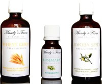 Mandy's Farm INTENSIVE SKIN REPAIR PACK FOR WOMEN - 3 Pure & Natural Essential And Massage Oils (215 Ml)