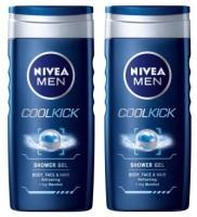 Nivea Cool Kick Shower Gel For Men (Pack Of 2) (250 Ml)
