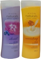 Avon Naturals Body Care Nourishing & Vibrant Shower Gel (Set Of 2) (400 Ml)