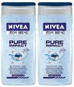 Nivea Pure Impact Shower Gel For Men (Pack Of 2) - 500 Ml
