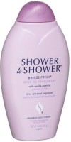 Shower To Shower Shower To Shower Absorbent Body Powder Breeze Fresh With Vanilla Essence Bottles Pack Of 2 (390 Ml)