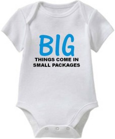 Chota Packet Baby Boy's, Baby Girl's White Bodysuit