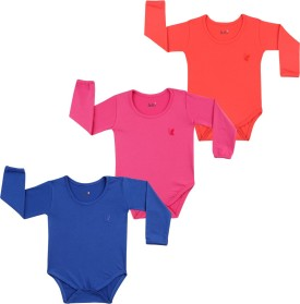 Lula Baby Girl's Pink, Red, Dark Blue Bodysuit