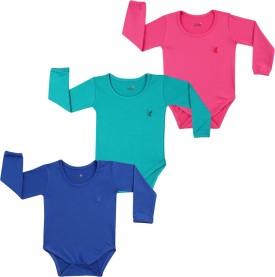 Lula Baby Girl's Pink, Dark Blue, Green Bodysuit - BOLEGKY8DKGKU5JC