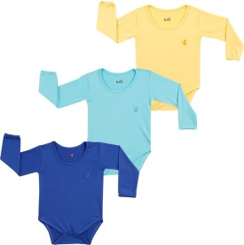 Lula Baby Girl's Dark Blue, Light Blue, Yellow Bodysuit