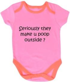 Chota Packet Baby Boy's, Baby Girl's Pink Bodysuit