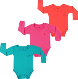 Lula Baby Girl's Pink, Red, Green Bodysuit