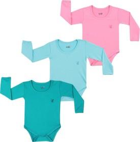 Lula Baby Girl's Pink, Light Blue, Green Bodysuit
