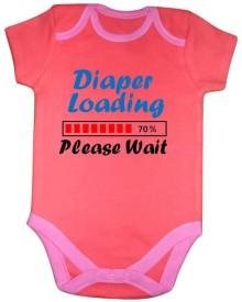 Chota Packet Baby Boy's, Baby Girl's Orange Bodysuit