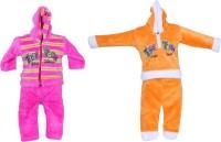 Tiny Toon Baby Boy's Embroidered Pink, Yellow Top & Pyjama Set