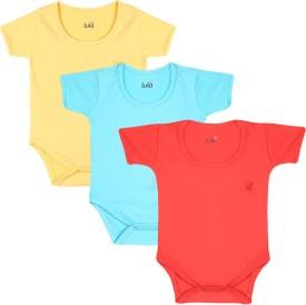 Lula Baby Girl's Red, Light Blue, Yellow Bodysuit