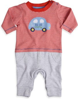 Mothercare Baby Boy's Grey, Red Sleepsuit