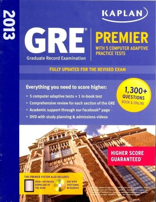 Buy Kaplan GRE Premier 2013 (With 5 Computer Adaptive Practice Tests + DVD): Book