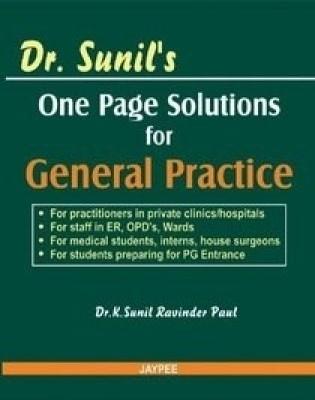 Dr. Sunil's One Page Solutions For General Practice 1/e Edition price comparison at Flipkart, Amazon, Crossword, Uread, Bookadda, Landmark, Homeshop18