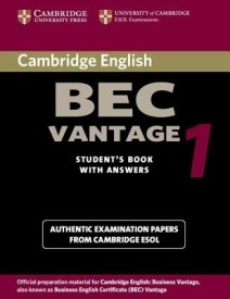 Cambridge Bec Vantage 1: Practice Tests from the University of Cambridge Local Examinations Syndicate (English) (Paperback)