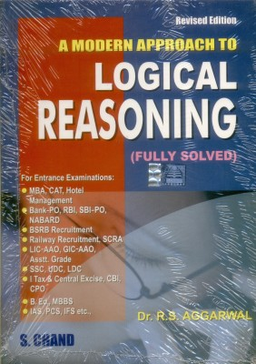 Buy A Modern Approach To Logical Reasoning by Aggarwal R. S.|Author;-English-S.Chand Publishing-Paperback_Edition-1st (English) 1st Edition: Book