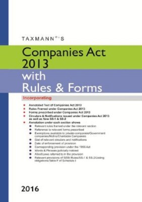Book on Companies Act 2013 Companies Act 2013 with Rules & Forms