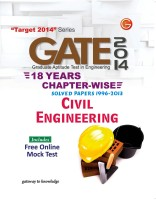 GATE 2014 - Civil Engineering : 18 Years Chapter Wise Solved Papers (1996 - 2013) (English) 15th Edition: Book