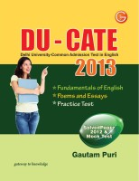 DU-CATE 2013(Delhi University-Common Admission Test In English) (English) 5th  Edition: Book