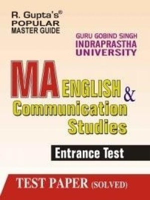 Buy GGSIP MA, English and Communication Studies Entrance Exam Guide: Book