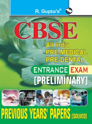 Buy CBSE All India Pre Medical Pre Dental Entrance Examination PB (English) 01 Edition: Book