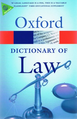 Buy A Dictionary Of Law 7th Edition: Book