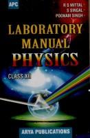 Laboratory Manual Physics (Class - 12) (English) 4th Edition: Book