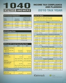 1040 Express Answers: Income Tax Compliance and Planning: 2010 Tax Year (English) (Spiral)
