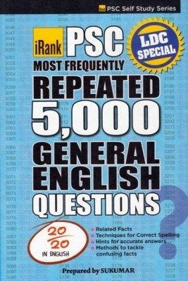 Psc Most Frequently Repeated 5000 General English Questions (English) price comparison at Flipkart, Amazon, Crossword, Uread, Bookadda, Landmark, Homeshop18