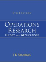Operations Research: Theory and Applications 5th Edition 5th  Edition: Book