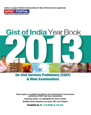 Gist of India Year Book 2013 for Civil Services Preliminary CSAT and Main Examinations price comparison at Flipkart, Amazon, Crossword, Uread, Bookadda, Landmark, Homeshop18