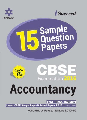 CBSE 15 Sample Question Paper - Accountancy For Class 12th (English) 4 Edition price comparison at Flipkart, Amazon, Crossword, Uread, Bookadda, Landmark, Homeshop18