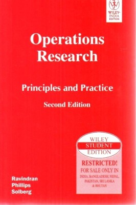 Buy Operations Research : Principles and Practice 2 Edition: Book