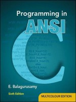 Programming in ANSI C 6th  Edition: Book