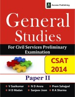 General Studies for Civil Services Preliminary Examination Paper II : CSAT 2014 1st Edition: Book
