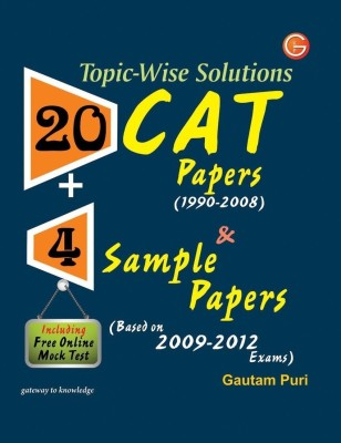 Topic-Wise Solutions 20 CAT Papers & 4 Sample Papers Including Free Online Mock Test 4th  Edition price comparison at Flipkart, Amazon, Crossword, Uread, Bookadda, Landmark, Homeshop18