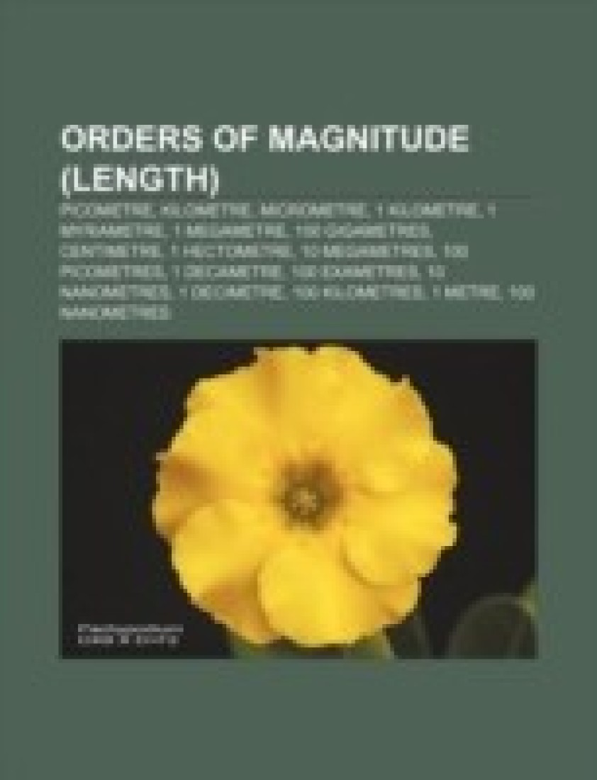 Orders of Magnitude Length Orders of Magnitude Length