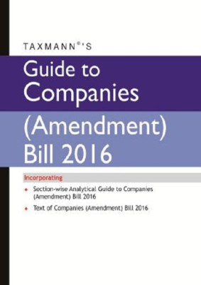 Guide to Companies Amendment Bill 2016