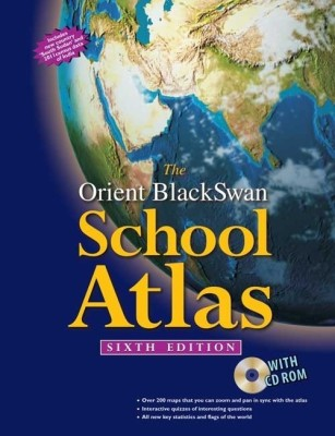 Buy The Orient BlackSwan School Atlas (With CD-ROM) (English) 6th Edition: Book