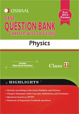 CBSE Question Bank Chapter Wise Solutions - Physics price comparison at Flipkart, Amazon, Crossword, Uread, Bookadda, Landmark, Homeshop18